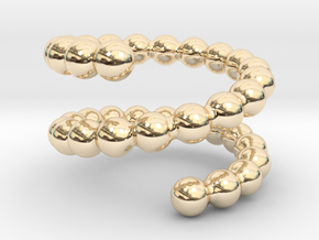 Spiral ring 18 in 14k Gold Plated