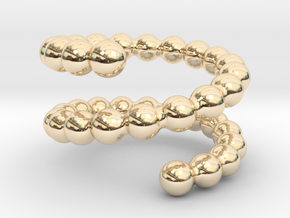 Spiral ring 20 in 14k Gold Plated