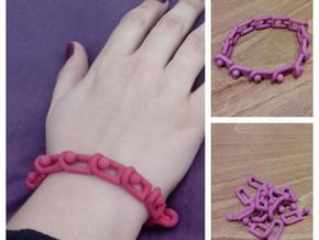 Olna Bracelet (Plastic version) in Pink Strong & Flexible Polished