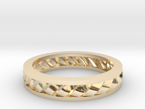 GBW2 Lds Wedding Band in 14k Gold Plated