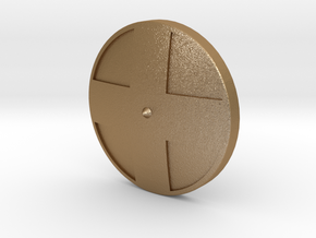 Viking Shield 3 in Matte Gold Steel