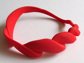Spiral bangle - small in Red Strong & Flexible Polished