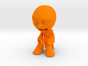 MTI-newfella pose 3 in Orange Strong & Flexible Polished