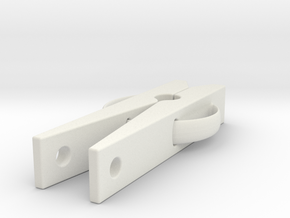 Clothes pin  in White Strong & Flexible