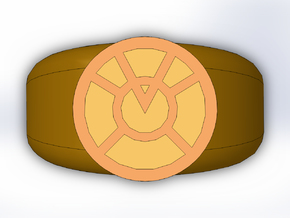 Orange Lantern Ring in Full Color Sandstone