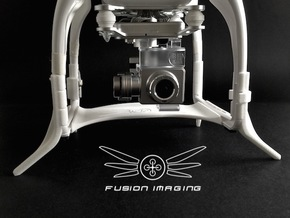 DJI Phantom Compass Leg Extender (V3.1) 'Wide' in White Strong & Flexible