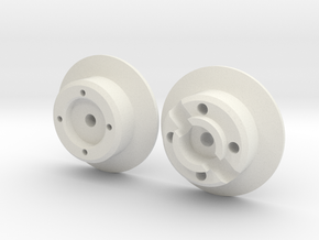 scale aircraft wheel hub in White Strong & Flexible