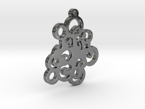 Circles Pendent in Polished Silver