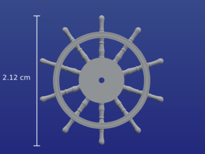 1:84 HMS Victory Ships Wheel in Frosted Ultra Detail