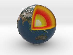 Earth with relief in Full Color Sandstone
