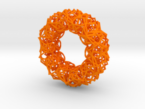 Bracelet The  geometric  size 2 3/4 (70mm) in Orange Strong & Flexible Polished