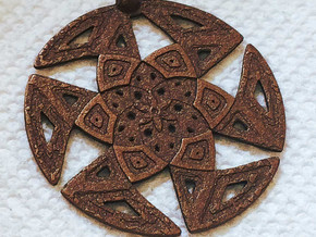 Islamic Pattern Pendant in Matte Bronze Steel