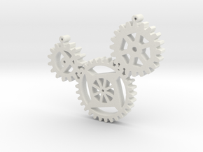 Steampunk gears in White Strong & Flexible
