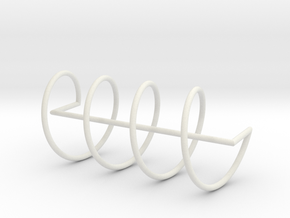 Helicoid frame in White Strong & Flexible