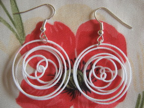 Conchoid 7 1 3 Earrings in White Strong & Flexible Polished
