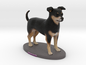 Custom Dog Figurine - Sprocket in Full Color Sandstone