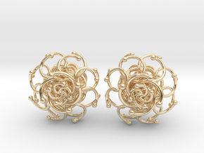 Plugs / gauge / size 3/8  (10mm) in 14k Gold Plated