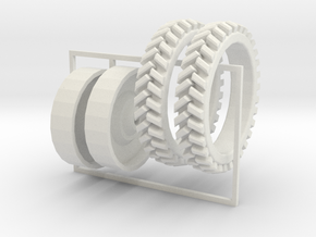 1/64 tall skinny tires for potato planting undetai in White Strong & Flexible