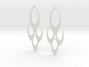 Earrings Oval in White Strong & Flexible