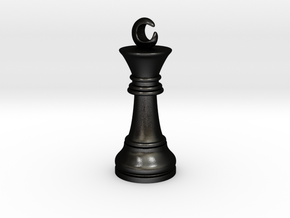 Single Chess King Moon Big / Timur Prince Ferz Viz in Matte Black Steel