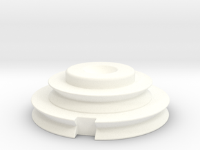 Officer Disk Scaled 80% in White Strong & Flexible Polished