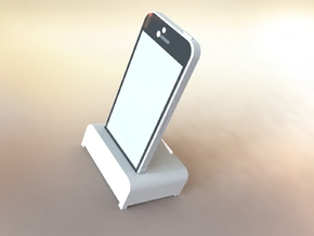 IPhone Desk Stand in White Strong & Flexible