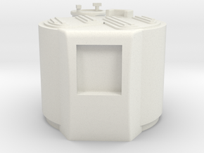 M03-engine Cover in White Strong & Flexible
