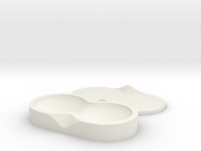 Contact Lens Seed Pod in White Strong & Flexible