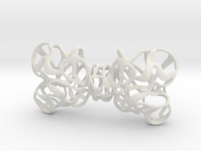 Papillon bow tie unisex in White Strong & Flexible