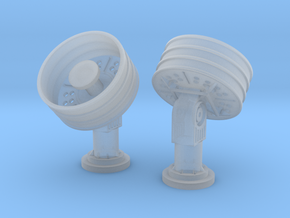 1:96 scale SatCom Antenna 45 Deg in Frosted Ultra Detail