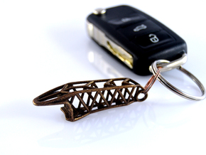 Skeletonized Space Frame Bottle Opener in Stainless Steel