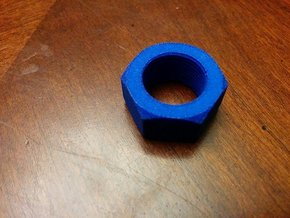Nut Job 14mmx1 Negative Muzzle Tip in Blue Strong & Flexible Polished