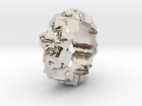 Ring of Cubes No.2 in Rhodium Plated
