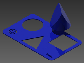 Tri-Shape Puzzle in Blue Strong & Flexible Polished
