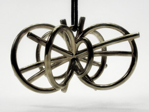 Higgs Boson Necklace in Polished Silver