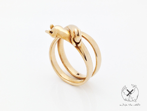 Nº06 Stretch Rabbit Ring (multiple sizes) in Polished Bronze