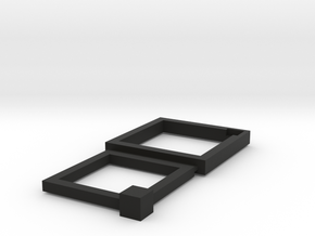 16+19mm Squared Connecting Rings in Black Strong & Flexible