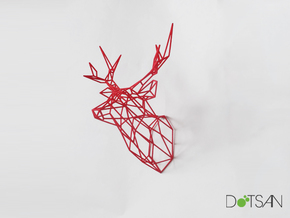 Stag Medium Looking Ahead in Red Strong & Flexible Polished