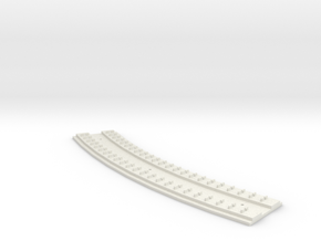"HO Concrete Direct Fixtation 18""  Radius Track in White Strong & Flexible"