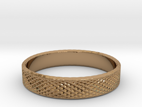 0223 Lissajous Figure Ring (Size13.5, 22.6 mm)#028 in Polished Brass