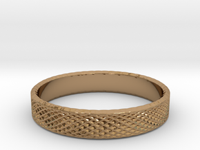 0226 Lissajous Figure Ring (Size15, 23.8 mm) #031 in Polished Brass