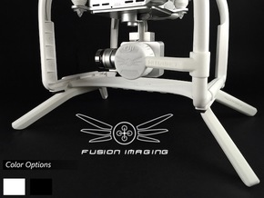 2.0 inch DJI Phantom 3 Gimbal Guard / Leg Extender in White Strong & Flexible