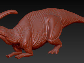 1/72 Parasaurolophus - Prone Alternate in White Strong & Flexible