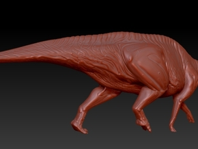 1/72 Parasaurolophus - Walking Alternate in White Strong & Flexible