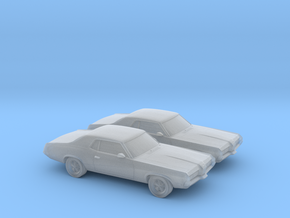 1/160 2X 1966-69 Mercury Cougar in Frosted Ultra Detail