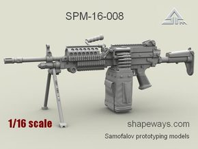 1/16 SPM-16-008 m249 MK48mod0 7,62mm machine gun in Frosted Extreme Detail