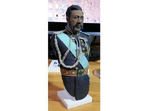 1:10 scale Full Color Kalakaua Bust in Full Color Sandstone