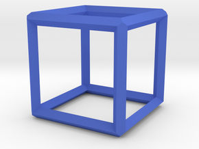 Cube(Leonardo-style model) in Blue Strong & Flexible Polished