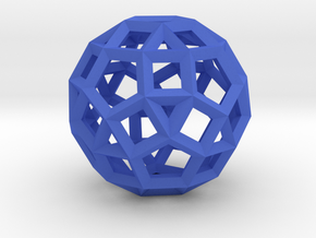 Rhombicosidodecahedron(Leonardo-style model) in Blue Strong & Flexible Polished