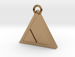 Triforce Pendant in Polished Brass